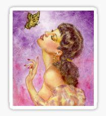 Beautiful Butterfly Girl Sticker