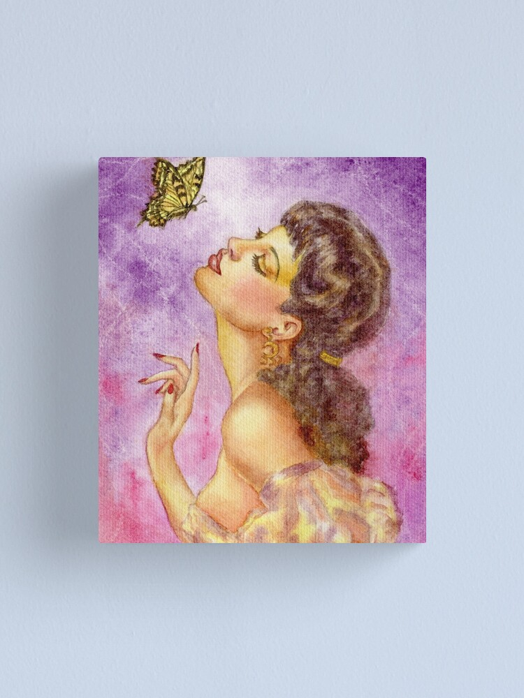 Alternate view of Beautiful Butterfly Girl Canvas Print