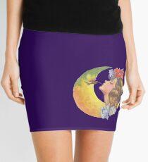 Beautiful Girl with Hummingbird Mini Skirt