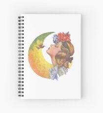 Beautiful Girl with Hummingbird Spiral Notebook