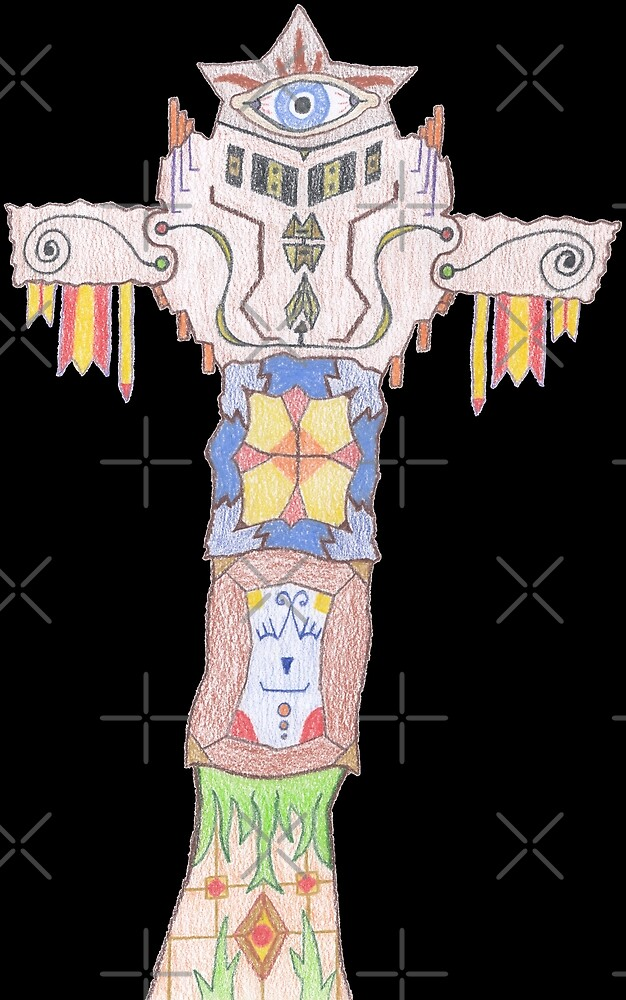 M.I. #14  ☽  All-seeing Tassles Totem. by Naean