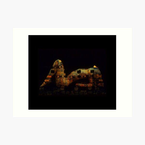 Techno Curves - Photo Art Art Print