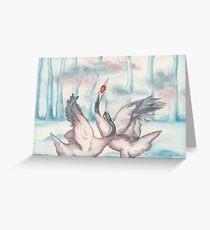 Dancing Cranes Greeting Card