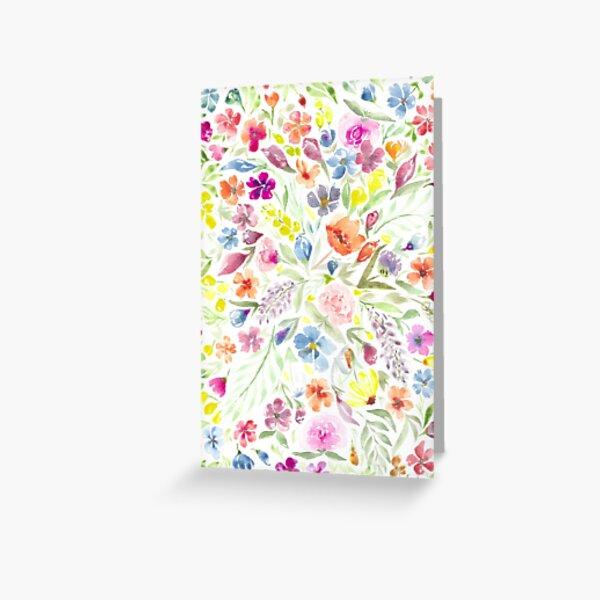 Watercolor Loose Floral Botanical Greeting Card