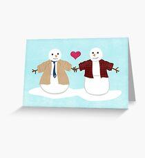 More Profound Snowmen Greeting Card