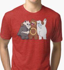 Poke Bare Bears Tri-blend T-Shirt