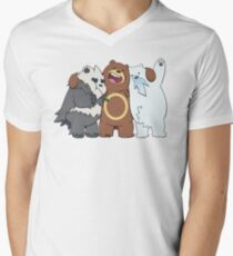 Poke Bare Bears Men's V-Neck T-Shirt
