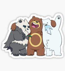 Poke Bare Bears Sticker