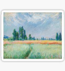 Claude Monet - The Wheat Field Sticker