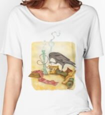 Crow with Hookah Women's Relaxed Fit T-Shirt