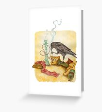 Crow with Hookah Greeting Card
