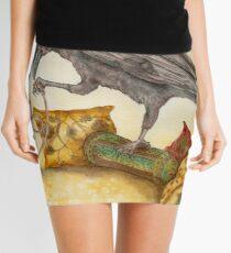 Crow with Hookah Mini Skirt