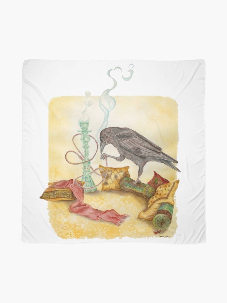 Alternate view of Crow with Hookah Scarf