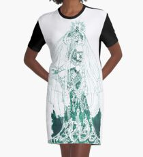 Enchantress in Emerald Ink Graphic T-Shirt Dress