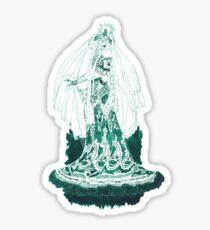 Enchantress in Emerald Ink Sticker