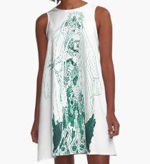 Enchantress in Emerald Ink A-Line Dress