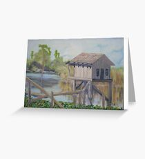 House In The Gulf of Mexico Greeting Card