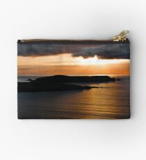 Sunset over St Ninians Isle Studio Pouch