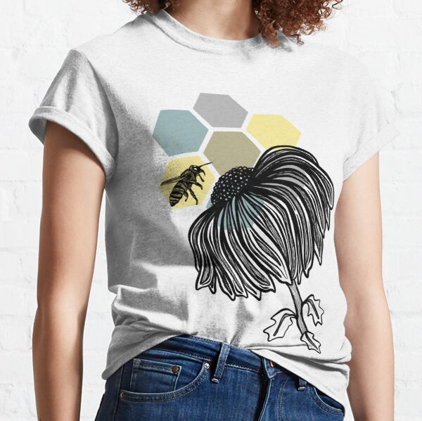 Bee Love on Hexagons Classic T-Shirt