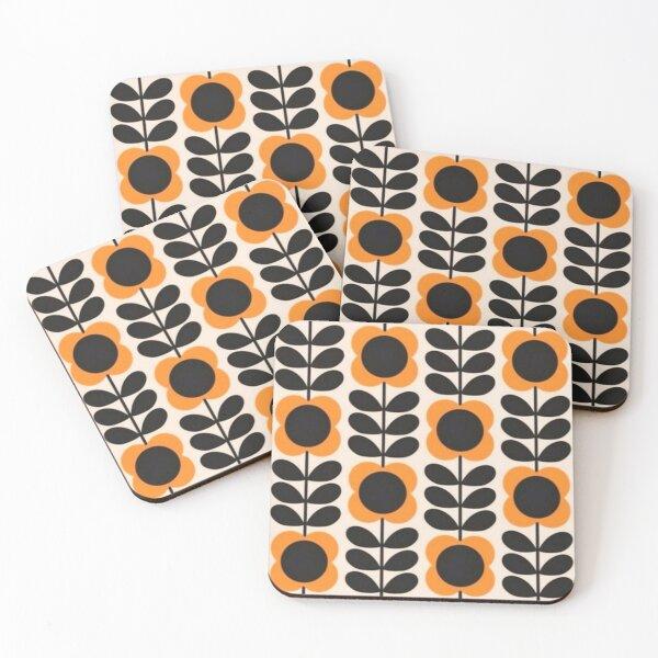 orla kiely sun colorful floral Coasters (Set of 4)