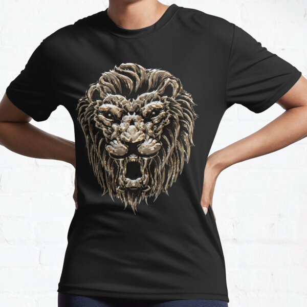 Lion Stoic Silver - LION STOIC SILVER Active T-Shirt