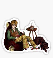 Remus, Tea, Black Dog, Colour Sticker
