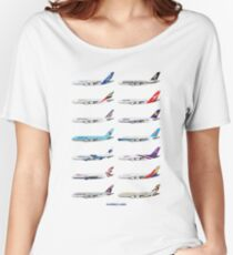 Airbus A380 Operators Illustration Women's Relaxed Fit T-Shirt
