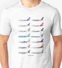 Airbus A380 Operators Illustration Unisex T-Shirt
