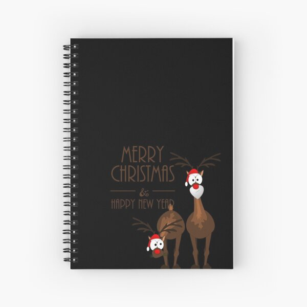 Merry Christmas with reindeer Spiral Notebook