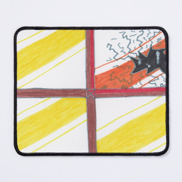 M.I. #20  ☽  Wrecked Window - Pane Pain Mouse Pad