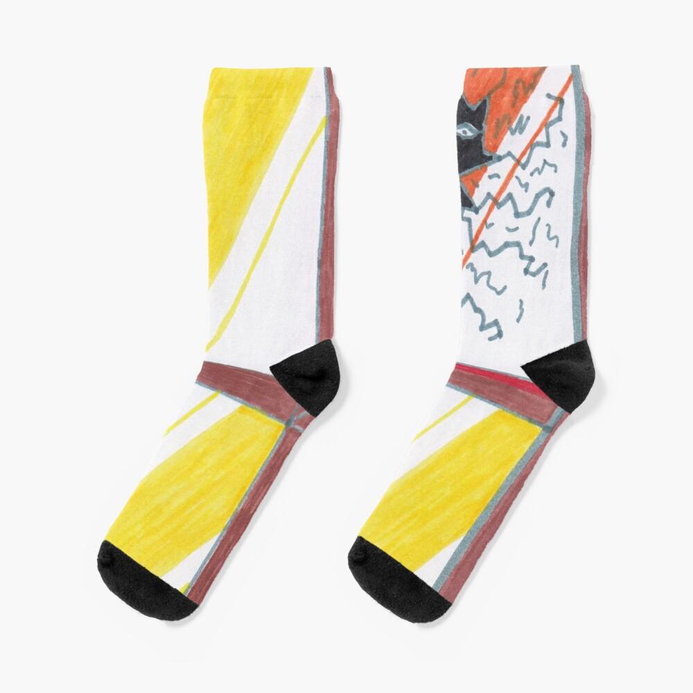 M.I. #20 |☽| Wrecked Window - Pane Pain Socks