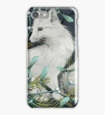 Arctic Fox Holiday Portrait iPhone Case/Skin