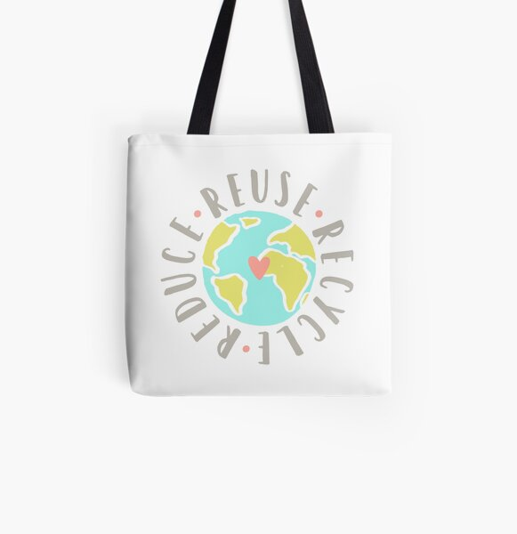 Reduce, reuse, recycle All Over Print Tote Bag