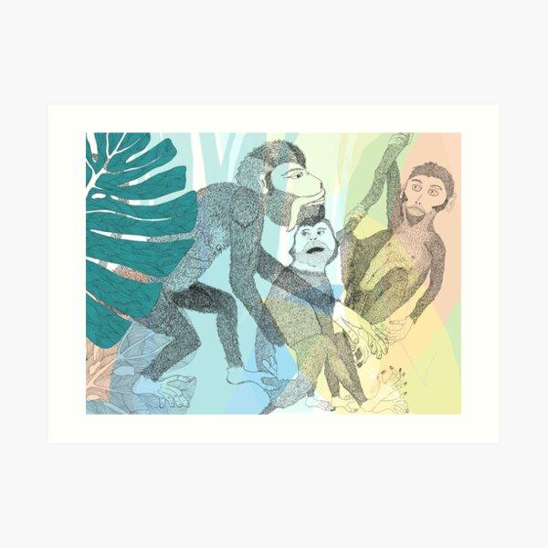Dance with the monkeys Art Print