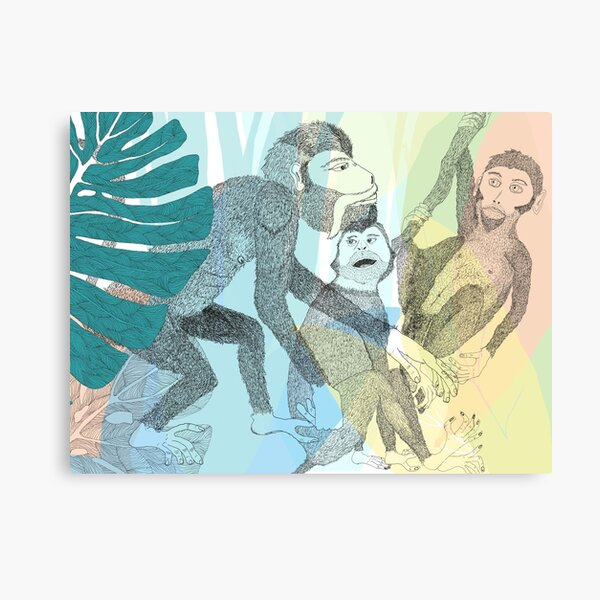 Dance with the monkeys Canvas Print