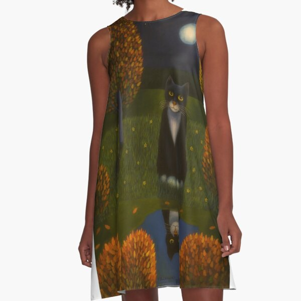 The cat and the moon A-Line Dress