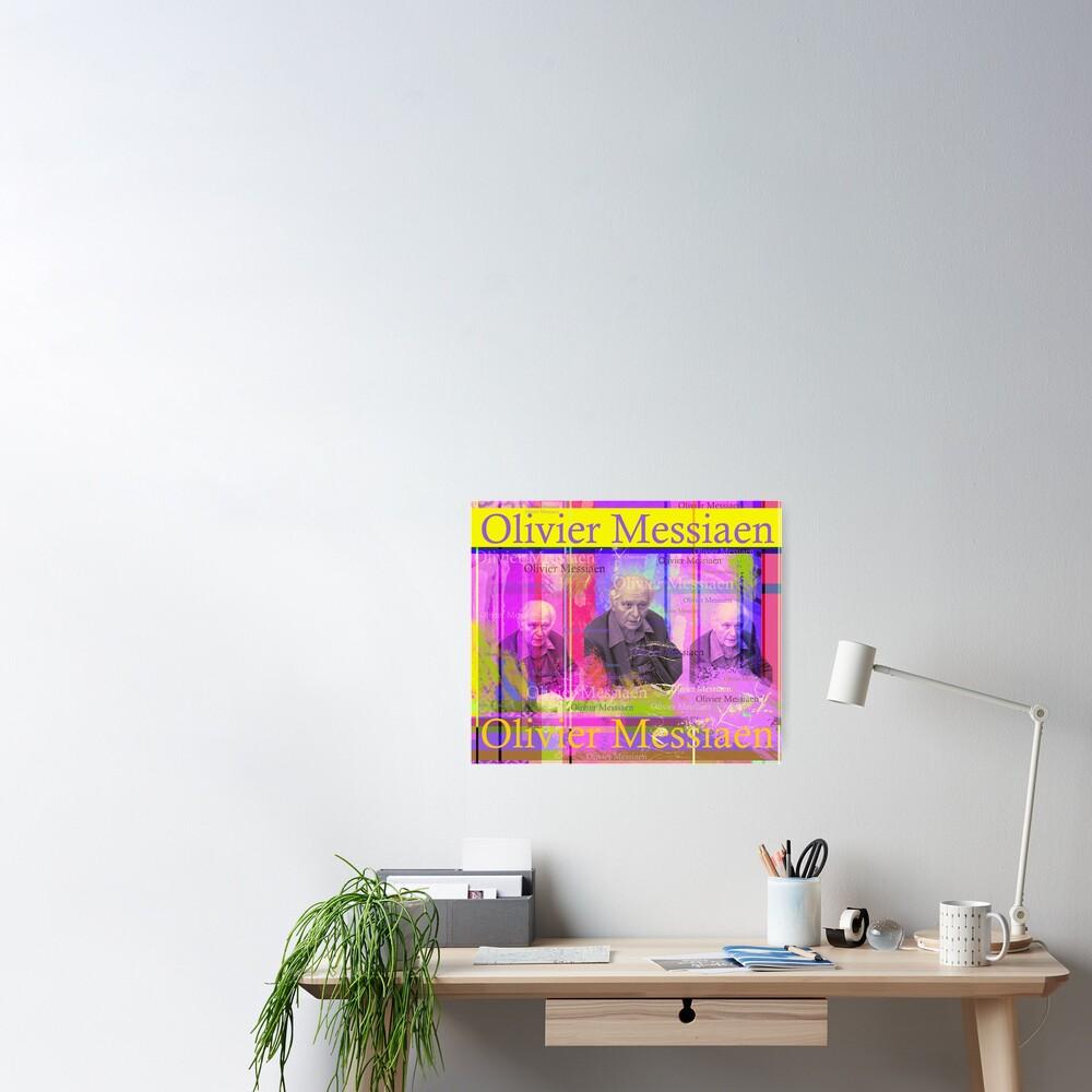 Olivier Messiaen Porträt Poster