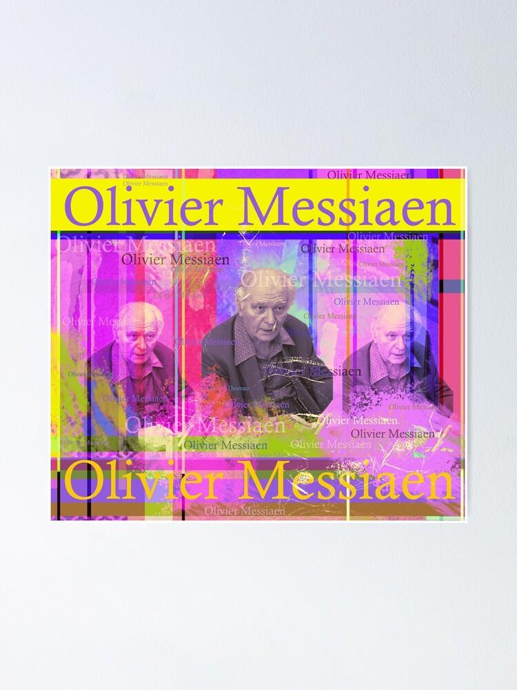 Alternative Ansicht von Olivier Messiaen Porträt Poster