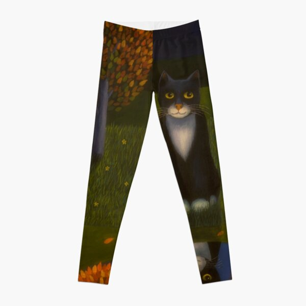 The cat and the moon Leggings