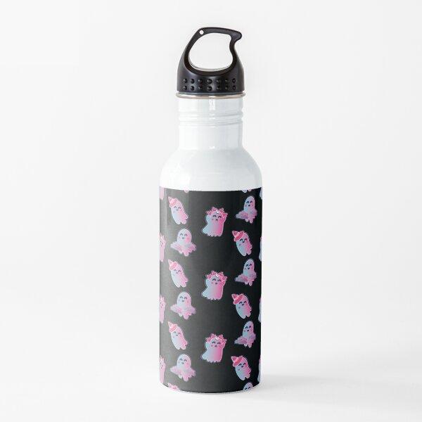 Cute Gradient Spooky Ghost Design Pack Water Bottle