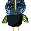 Red socks owl by annieclayton