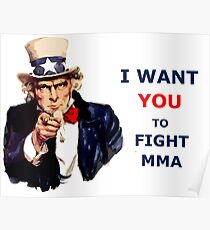 Uncle Sam I want you to fight MMA Poster