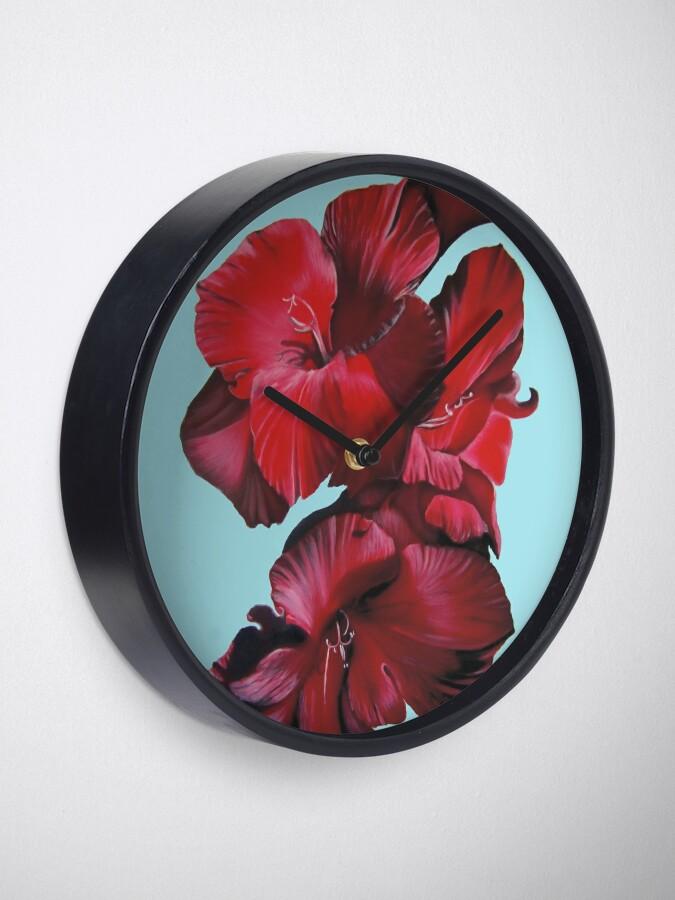 Alternate view of Gladioli Clock