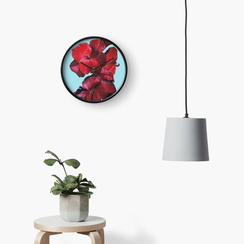 Gladioli Clock