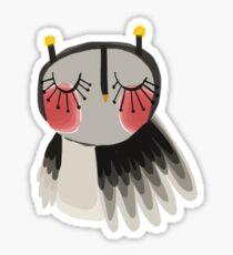 Rosy cheeks owl Sticker