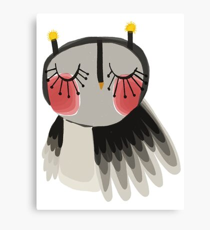 Rosy cheeks owl Canvas Print