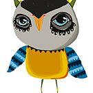 Pink bits owl by annieclayton