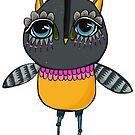 Cartoon hero owl by annieclayton