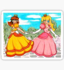 Daisy and Peach Sticker
