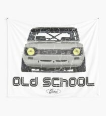 Classic Ford Escort MK1 Old School Distressed T-Shirt Wall Tapestry